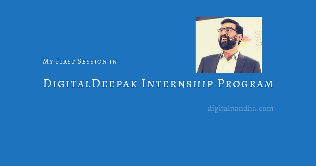 Learn from Deepak Kanakaraju