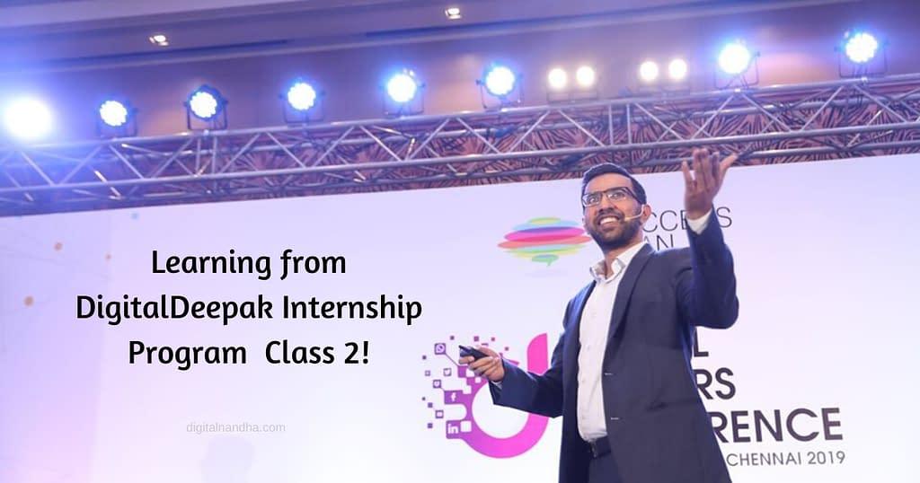 DigitalDeepak Internship class 2