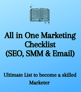 All in One Marketing Checklist