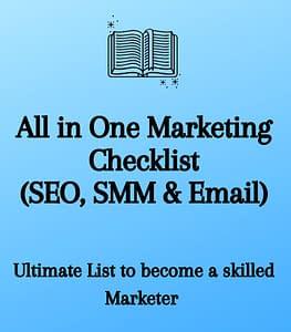 All in One Marketing Checklist